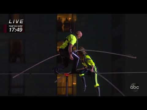 The Jim Colbert Show - Nik Wallenda & Lijana Wallenda Crossing the Highwire 25 Stories Up