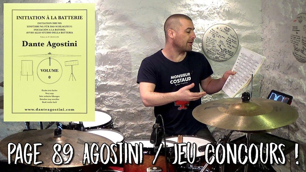 Cours de batterie : Page 89 Agostini / Jeu concours ! Cédric Hilaire D-Click Online