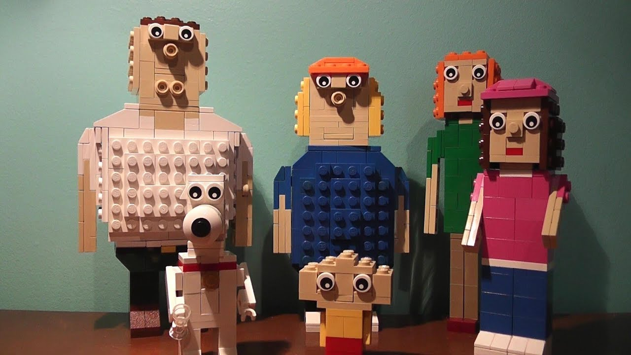 How To Build Lego Peter Chris Brian Stewie Lois And Meg