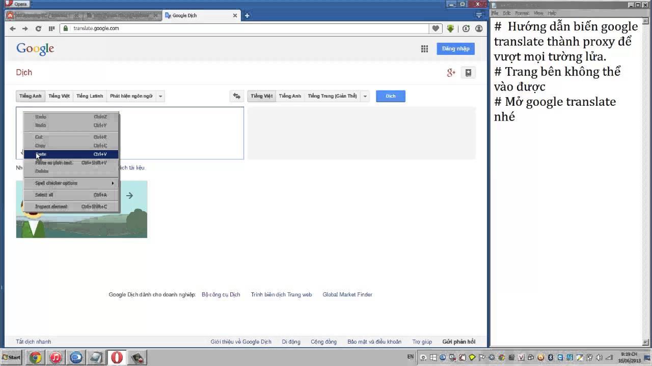 Mở trang web bị chặn bằng google translate