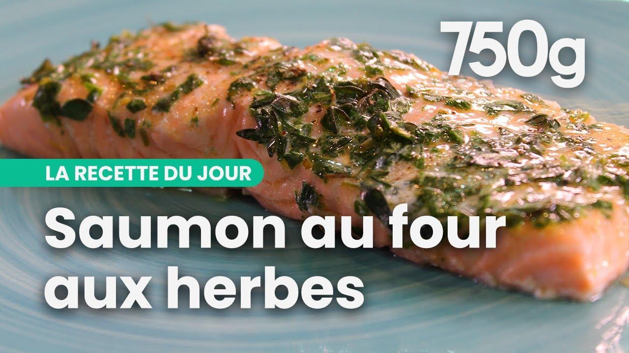 recette de saumon au four aux herbes 750g youtube. Black Bedroom Furniture Sets. Home Design Ideas
