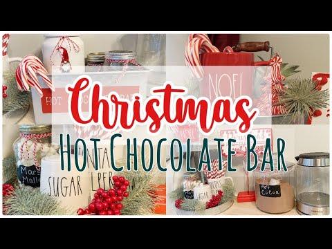CHRISTMAS DIY HOT COCOA BAR 2019 :: CLEAN AND DECORATE :: FARMHOUSE CHRISTMAS DECOR