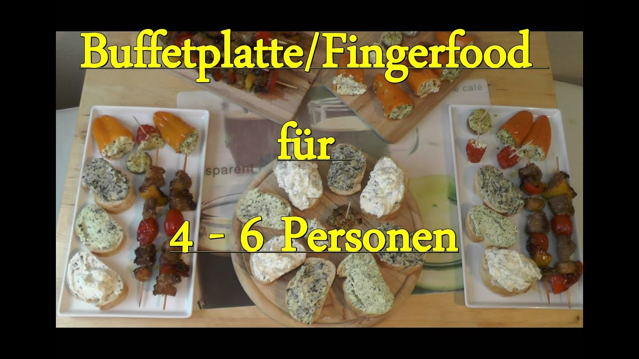 folge 23 bunte buffetplatte fingerfood f r 4 6. Black Bedroom Furniture Sets. Home Design Ideas