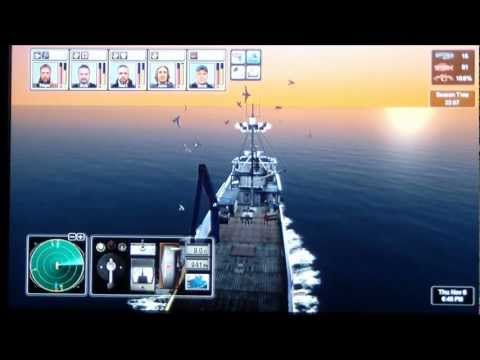 Deadliest Catch Alaskan Storm Xbox 360 King Crab Season Gameplay Setting and Pulling a Full String