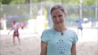 Аня - участница лагеря пляжного волейбола Sunny wind