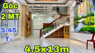 Bán nhà Gò Vấp | Nhà đẹp Góc 2MT cực kỳ rộng rãi và thoáng mát | giá rẻ 5.45 tỷ