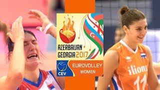 GOLD FINAL MATCH Highlights  SERBIA vs NETHERLANDS  CEV Womens EuroVolley 2017  BrenoB