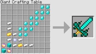 Minecraft UHC but with giant op crafting recipes...