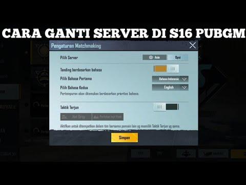CARA GANTI SERVER LAIN DI S16 - PUBG MOBILE