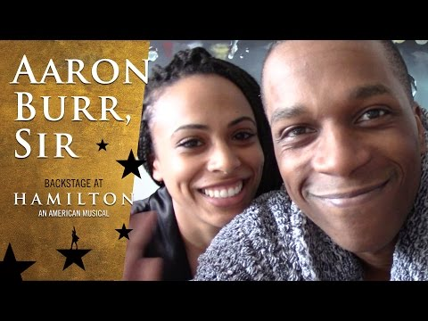 Episode 8  Aaron Burr, Sir: Backstage at Broadway's HAMILTON with Leslie Odom Jr.