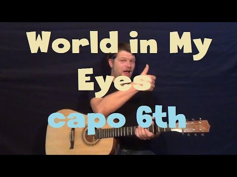 World In My Eyes (Depeche Mode) Capo 6th Easy Guitar Lesson Strum Chords How to Play Tutoral