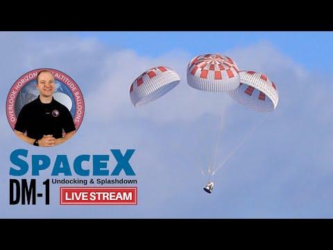 SpaceX DM-1 Undocking