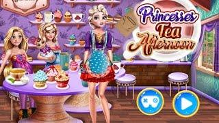 мультик для девочек—Принцессы в кафе—Игры для детей Princesses Tea Afternoon