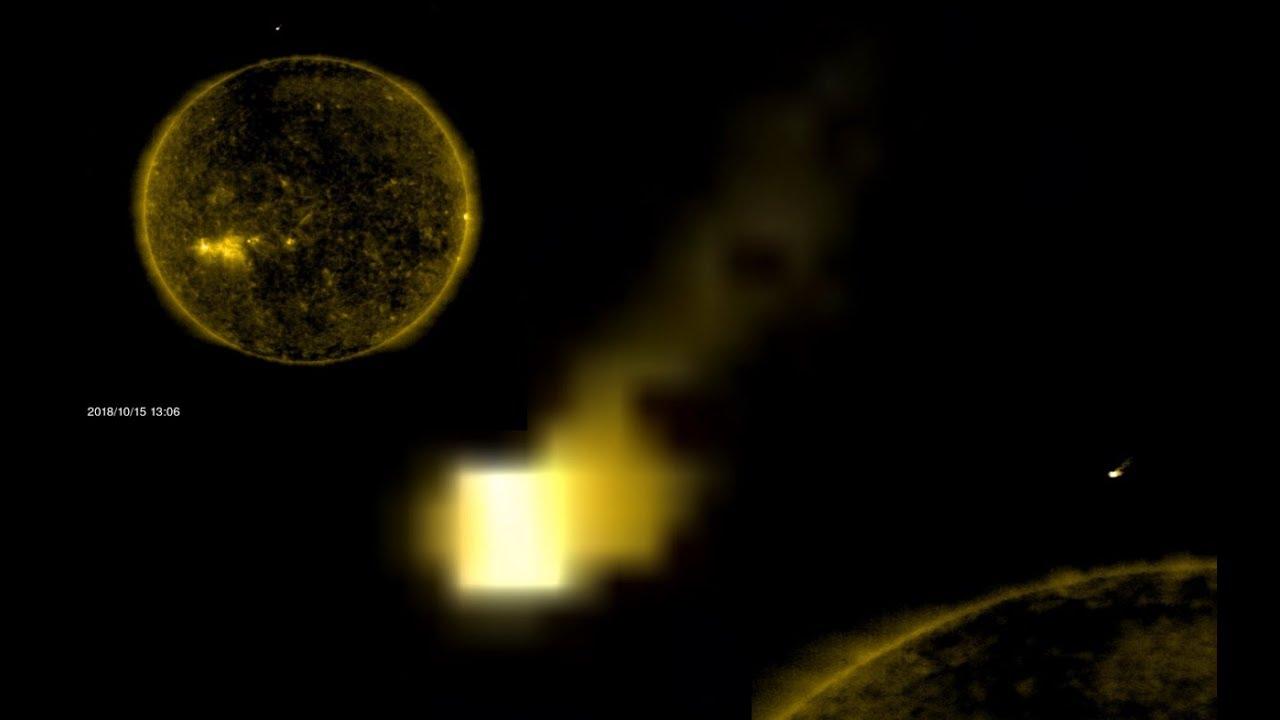 Earth Size UFO Cube Returns To Sun Today, NASA/SOHO Link