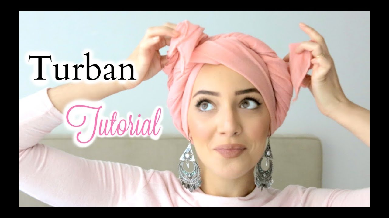 my easy pinless turban tutorial comment nouer un turban. Black Bedroom Furniture Sets. Home Design Ideas