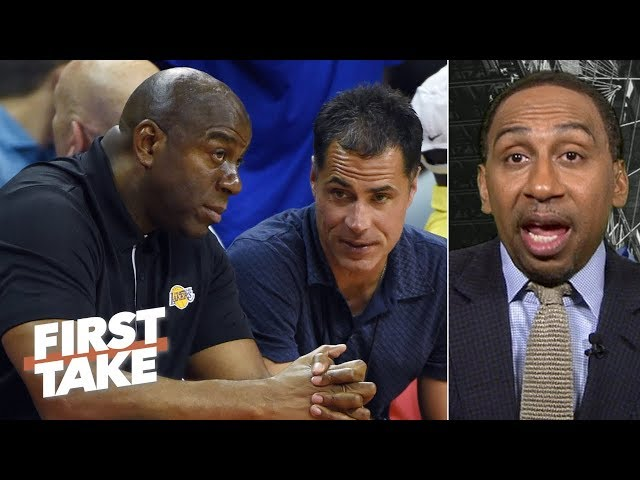 Magic Johnson is a novice, Rob Pelinka is 'despised' by people in the NBA - Stephen A. | First Take