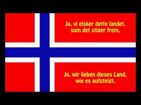 Norwegischen Nationalhymne - Norges nasjonalsang (NO/DE Text)
