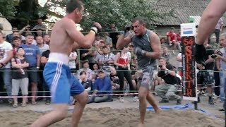 Real  boxer vs Military soldier !!! Good Fight !!