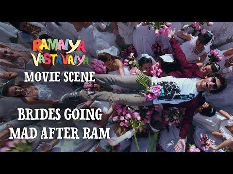 Brides Going Mad After Ram - Ramaiya Vastavaiya Scene - Girish Kumar