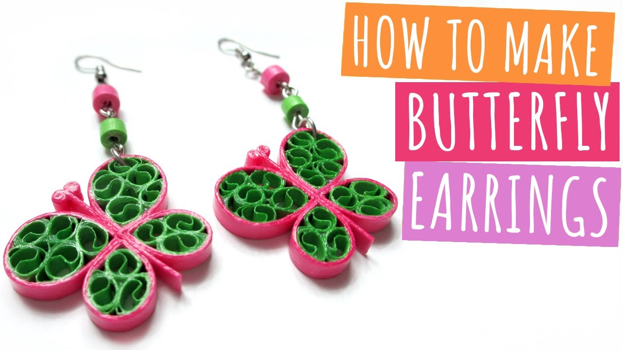 How to make Butterfly Earrings | DIY
