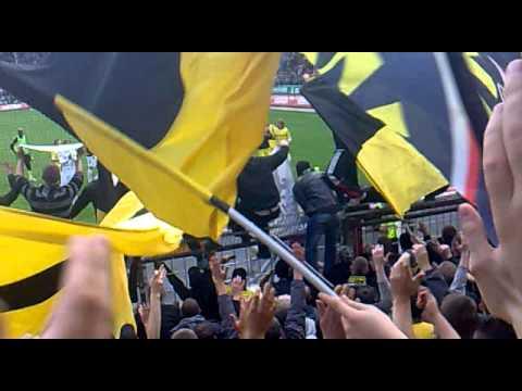 Fc St Pauli - Borussia Dortmund 25.09.2010 stimmung Gästeblock gute Quali