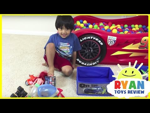 Thumbnail: SURPRISE TOYS Giant Ball Pit Challenge Disney Cars Toys Lightning McQueen Spiderman Ryan ToysReview