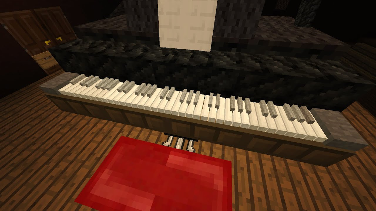 Piano In Minecraft Youtube - Bilder Klavier