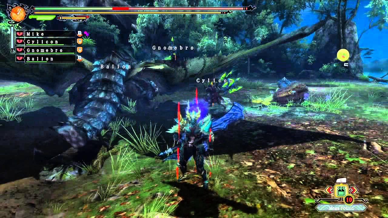monster hunter 3 ultimate online azure rathalos hunt