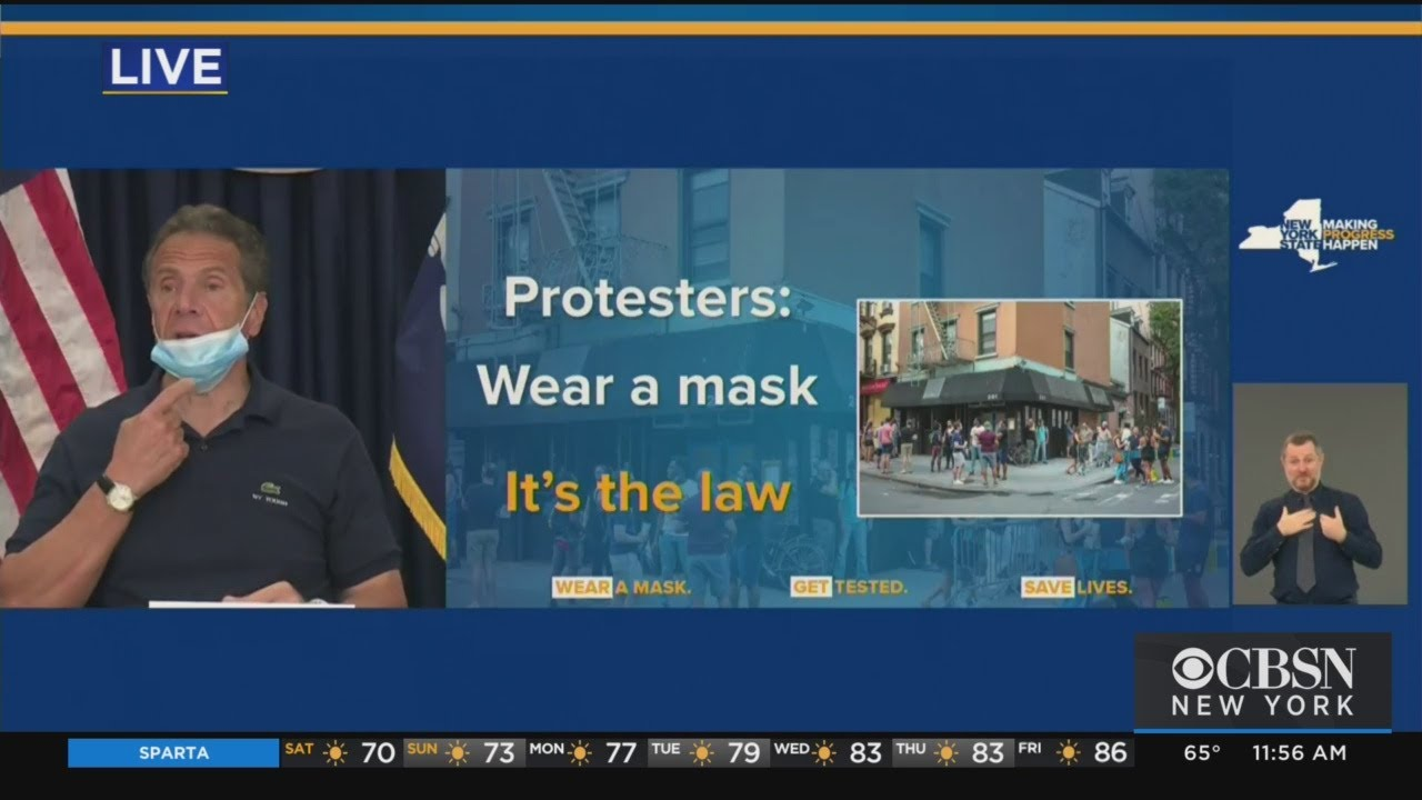 Cuomo To Protesters Wear A Mask Not A Chin Guard Youtube