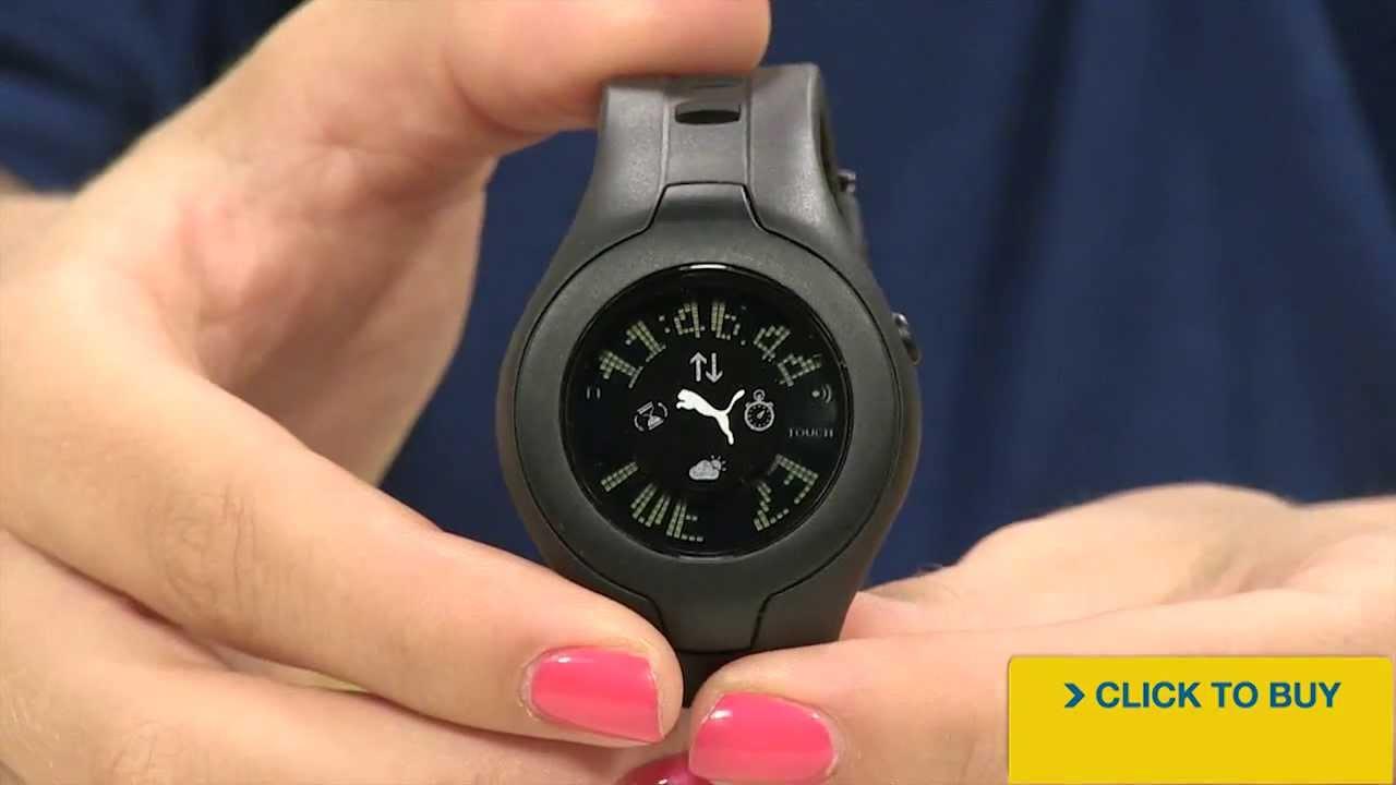 1ec32609a6aa Puma Women's Digital Multi-Function Touch Screen Black Rubber PU910212002 -  YouTube