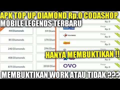 MEMBUKTIKAN APK TOP UP DIAMOND Rp0 CODASHOP MOBILE LEGENDS TERBARU
