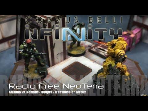 Radio Free NeoTerra – Infinity N3 Battle Report – Ep 61 – Nomads vs. Ariadna