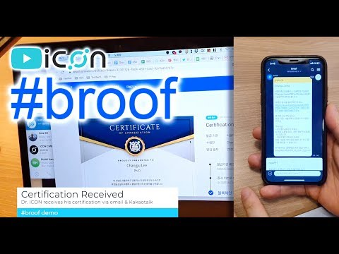 ICON ICX: 'broof' Blockchain Based Certificate Issuance Service (Full Demo)