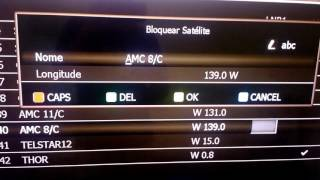 Alterando o satélite do LNB 2 no Tocomsat