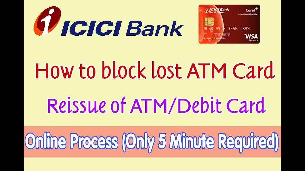 icici bank debit card block no