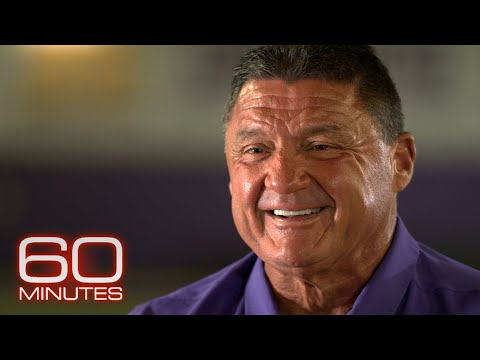 LSU football coach Ed Orgeron makes his pitch to 60 Minutes
