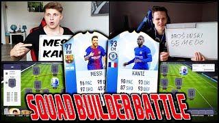 Champions League MESSI vs. TOTY KANTE Squad Builder Battle vs. Esportler! 🔥🔥 Fifa 18 Ultimate Team