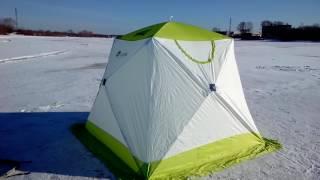Обзор палатки для зимней рыбалки Лотос Куб Профессионал М