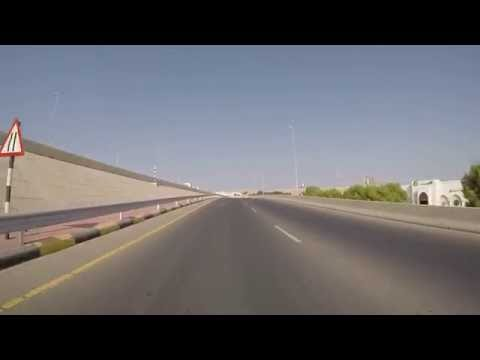 Muscat, Oman - Drive from Al Qurum Complex to Muscat Gate - HD Quality