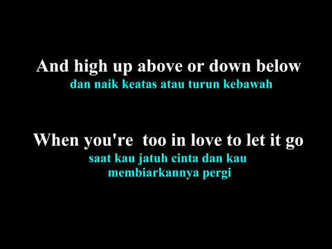 Coldplay - Fix you lirik dan arti bahasa indonesia