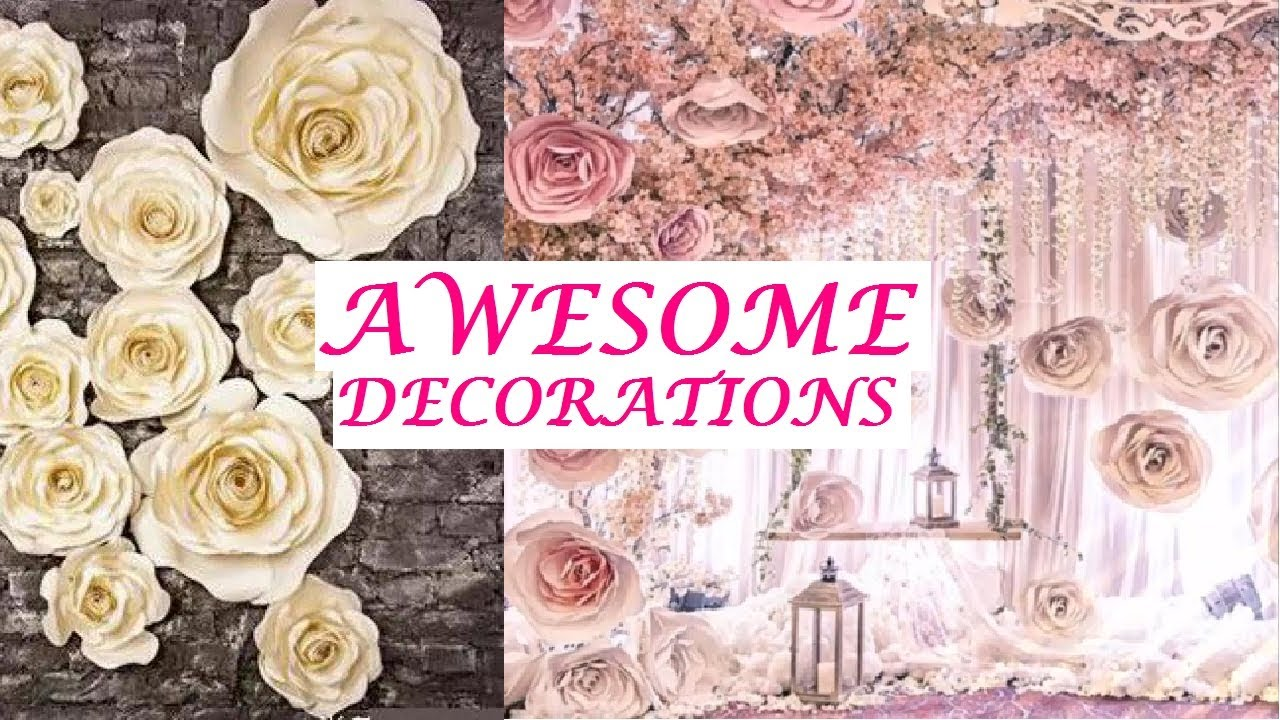 Creative Ideas How To Decorate Giant Big Paper Flowers Decoration Wedding Birthday Party