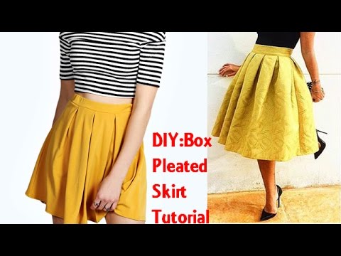 DIY: Box Pleated Skirt Tutorial