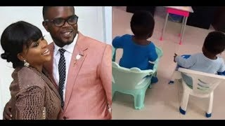 Actress Funke Akindele Finally shows off her twin boys amp Celebrate her step son birthday In Style