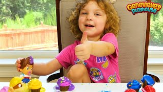 Best Toddler Learning for Kids Genevieve makes Toy Cupcakes for Paw Patrol w/ Icing, Sprinkles