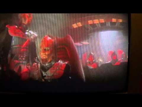 Klingon battleships get killed by the electrical space cloud (Star Trek 1 Scene).