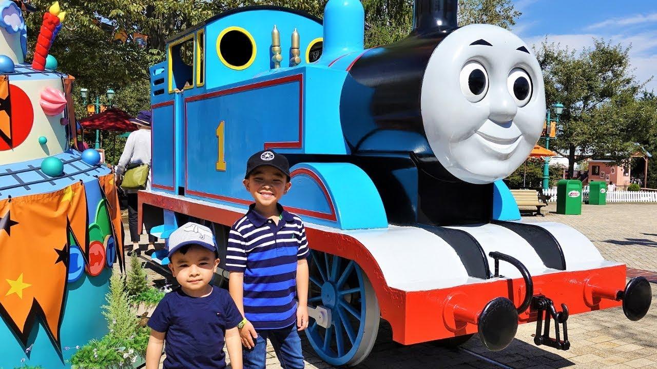 THOMAS LAND Kids Ride On Fun Playground Real Thomas And Friends Train Ckn Toys