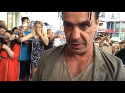 Till Lindemann, Rammstein (18.06.2016) autographs