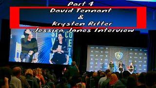 David Tennant and Krysten Ritter svcc silicon valley con 2018 part 4 Jessica Jones Interview