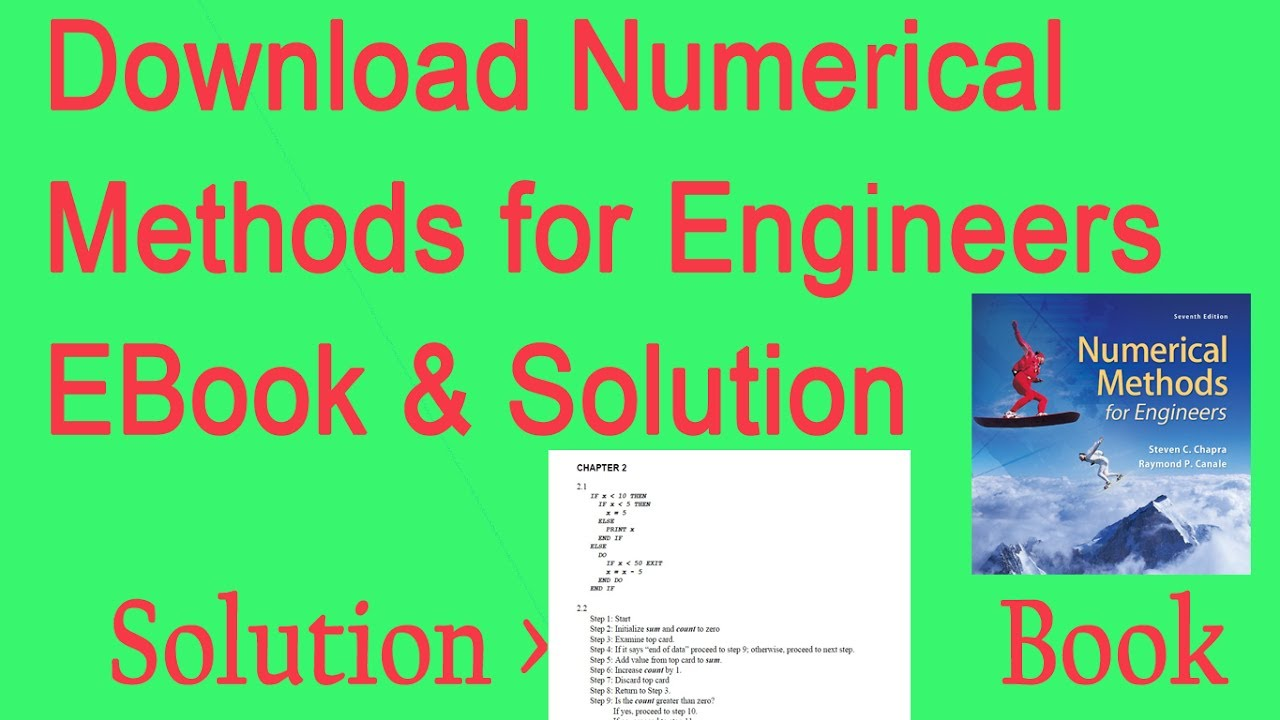 Downloading Numerical Methods For Engineers Books Pdf And Solution