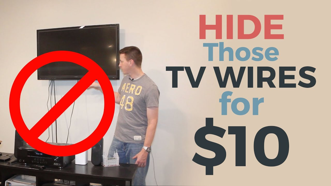 how to hide your tv wires for 10 youtube. Black Bedroom Furniture Sets. Home Design Ideas